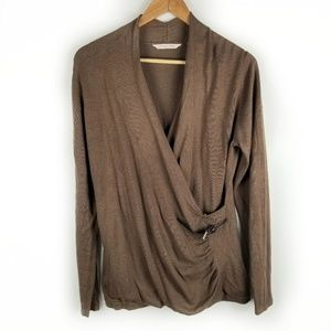 Soft Surroundings Small Long Sleeve Wrap Sweater
